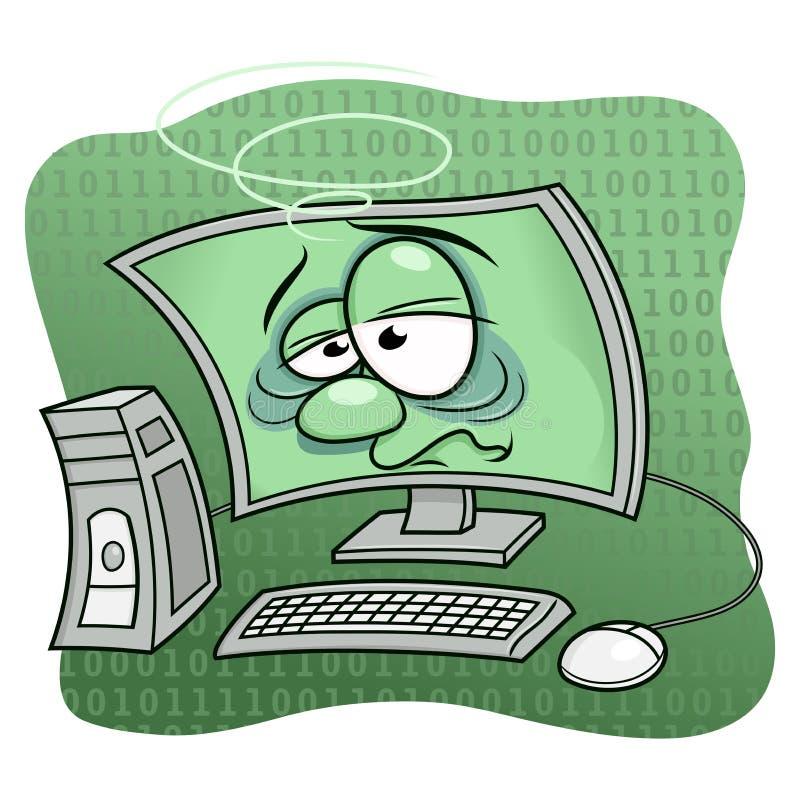Computer wurde krank lizenzfreie abbildung