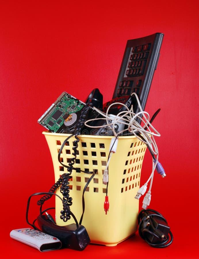 Computerabfall lizenzfreie stockfotos