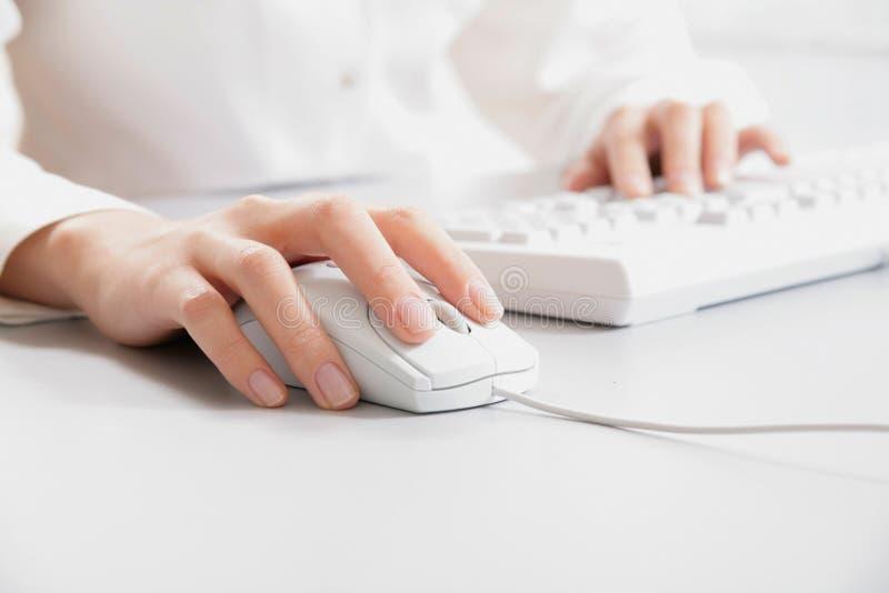 Computerarbeit stockfoto
