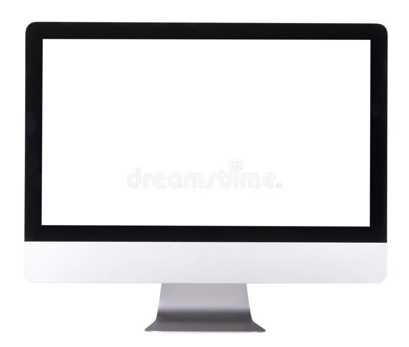 Computerbildschirmanzeige mit leerem Bildschirm lizenzfreie stockfotografie