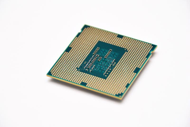 Computercomponenten, cpu stock afbeelding