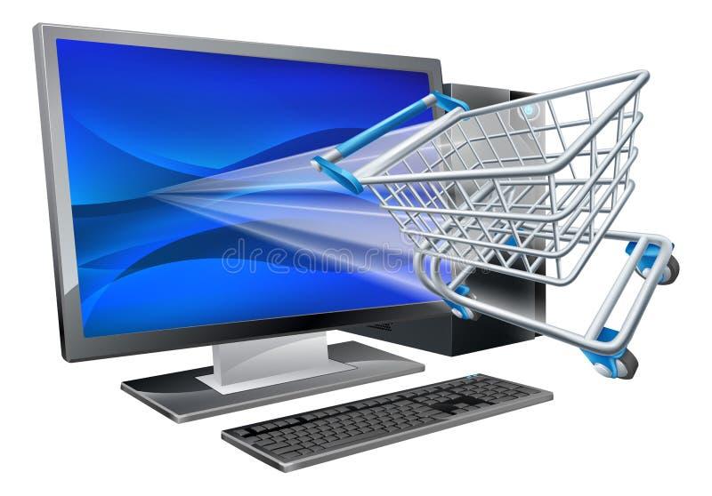 Computereinkaufskonzept lizenzfreie abbildung