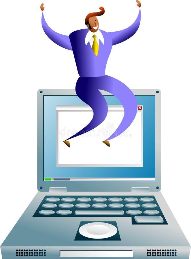 Computererfolg lizenzfreie abbildung