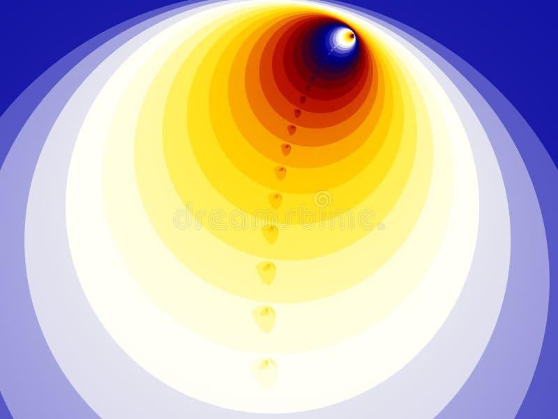 Computererzeugtes Bild eines futuristischen Tunnels stockfoto
