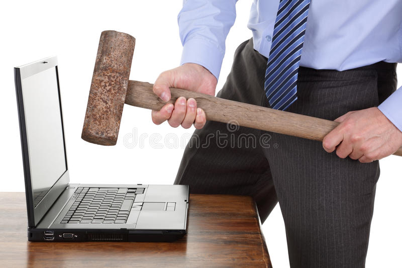 Computerfrustration lizenzfreies stockfoto