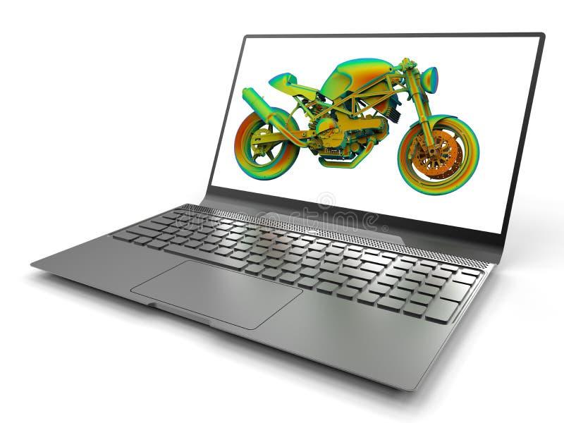 Computergesützte Konstruktion - Motorrad stock abbildung