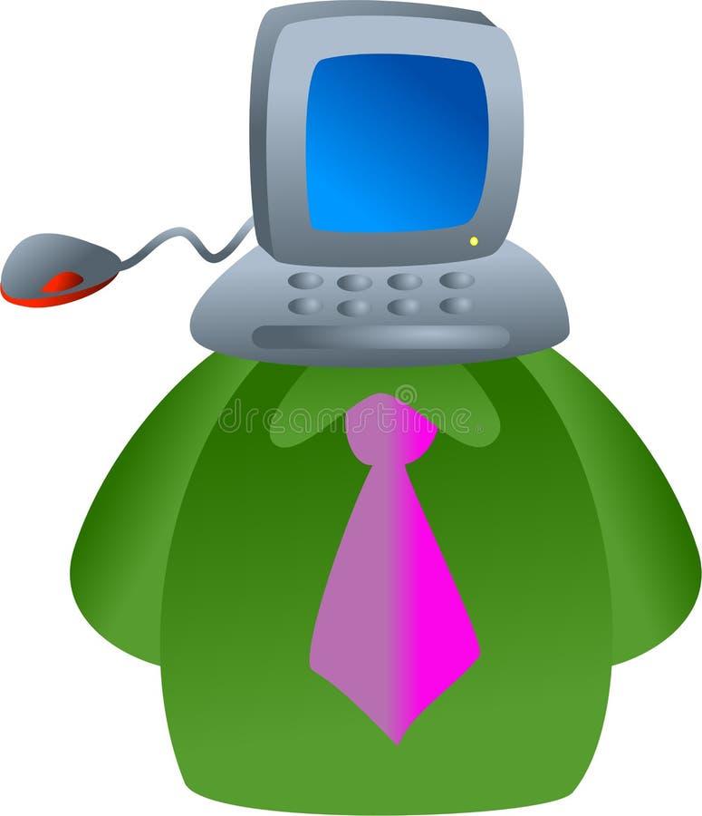Computergesicht lizenzfreie abbildung