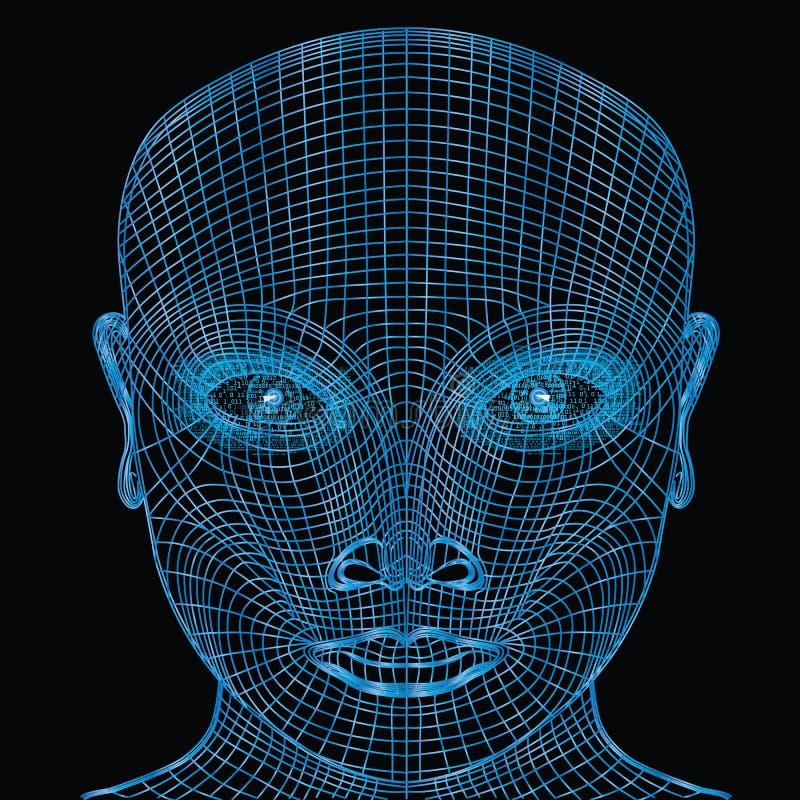 Computergezicht stock illustratie