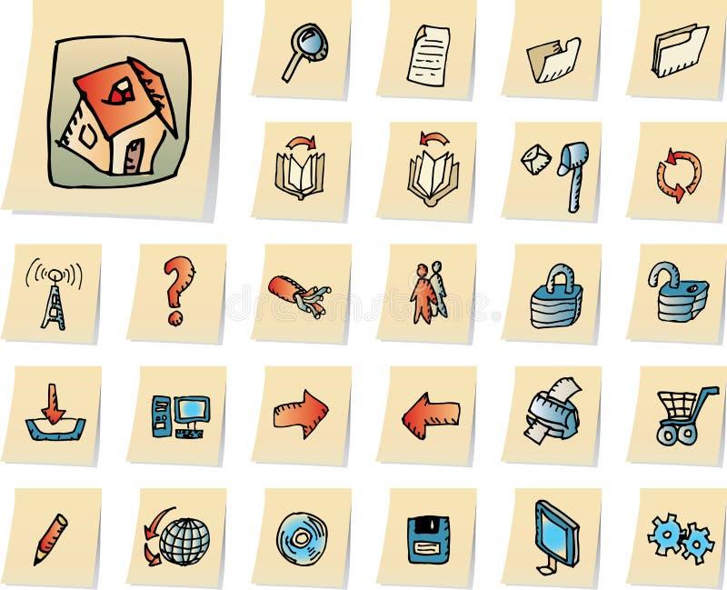 computering ikony sieci royalty ilustracja
