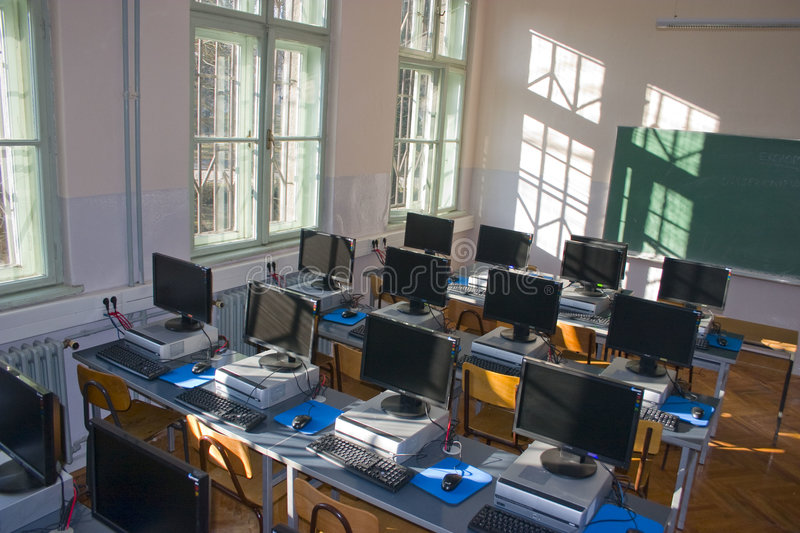 Computerklassenzimmer stockbild