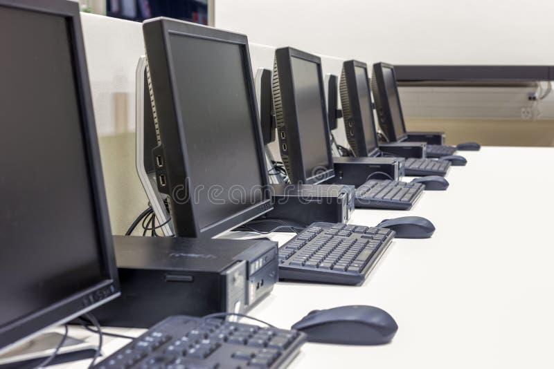 Computerlaboratorium stock foto's