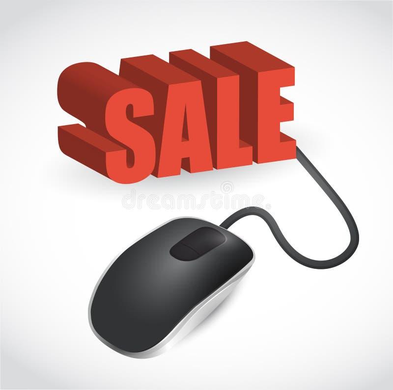 Computermäuse- und Wort Verkaufsillustration vektor abbildung