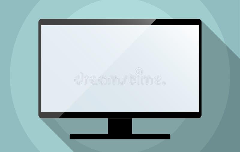 computermonitor oder fernsehen mit leerem bildschirm vektor abbildung illustration von flach