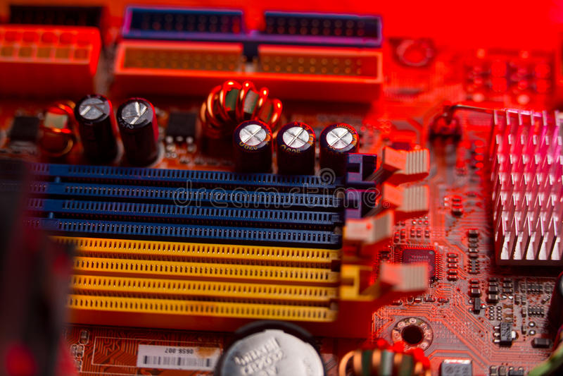 Computermotherboard stock foto's