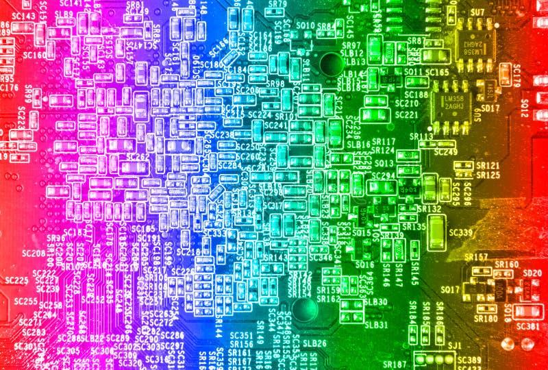 Computermotherboardkreisläuf stockbild