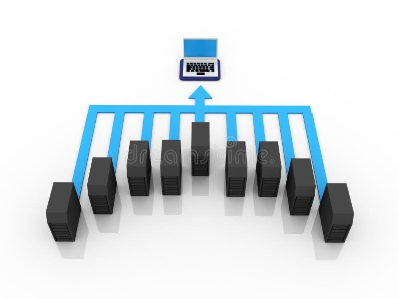 Computernetwerk vector illustratie