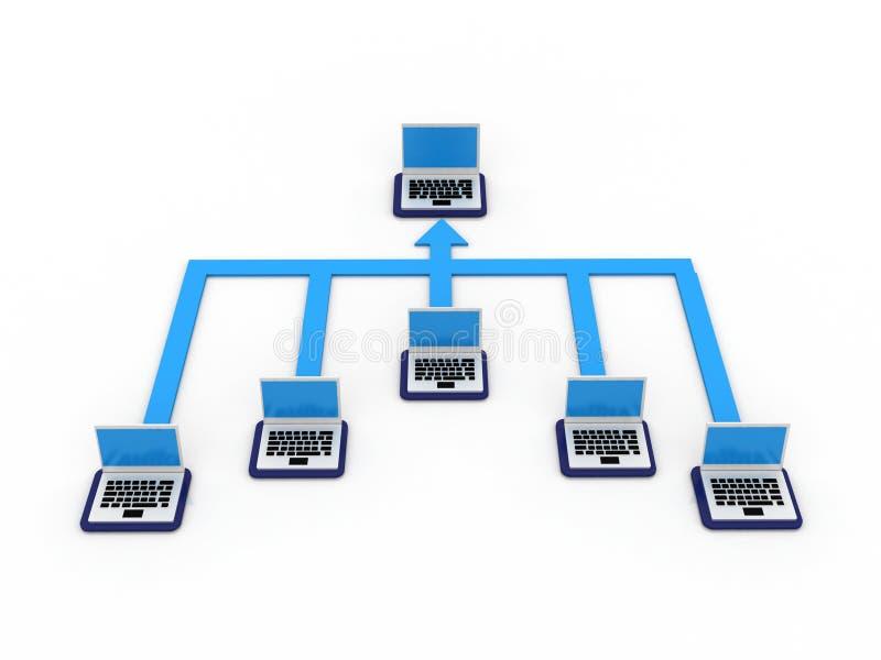 Computernetwerk stock illustratie
