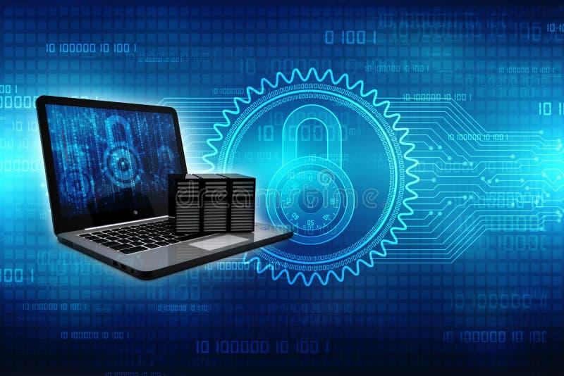 Computernetwerk, Internet-Mededeling, op technologieachtergrond die wordt geïsoleerd het 3d teruggeven stock foto