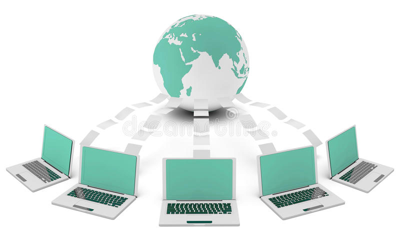 Computernetz lizenzfreie abbildung