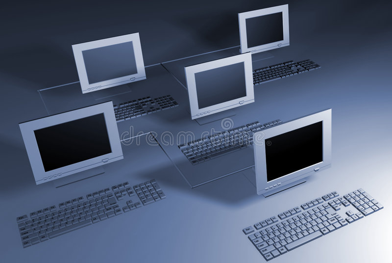 Computernetz stock abbildung
