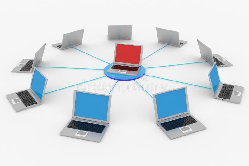 Computernetz. vektor abbildung