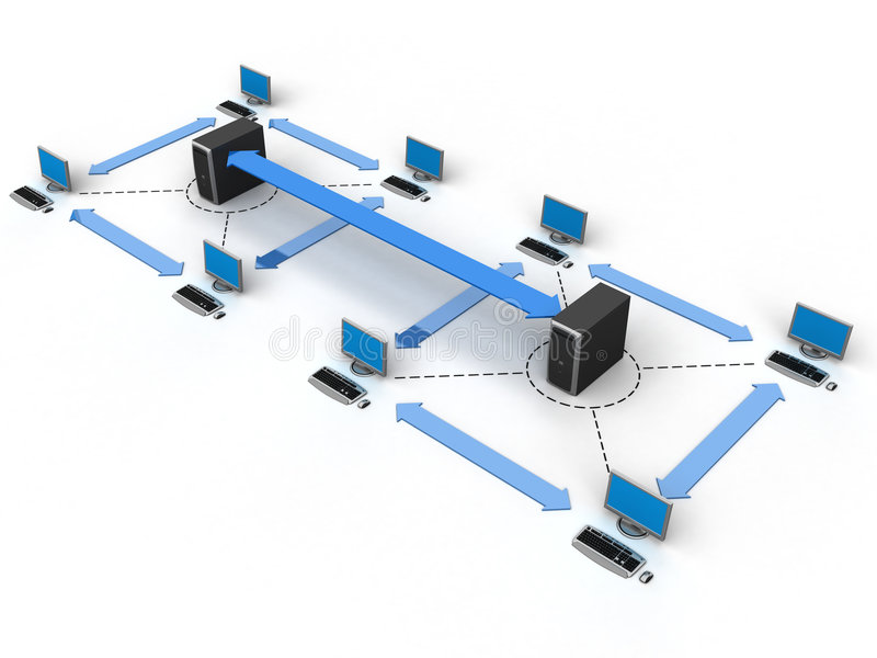 Computernetz vektor abbildung