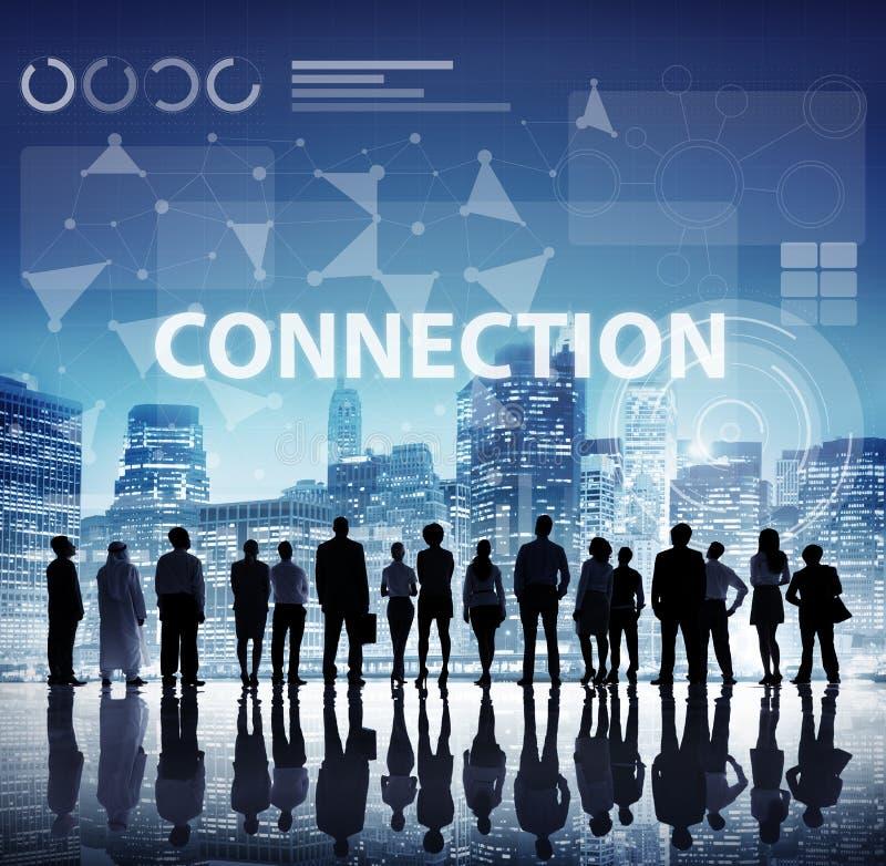Computernetzwerk-Internetanschluss-Digital-Konzept lizenzfreies stockfoto
