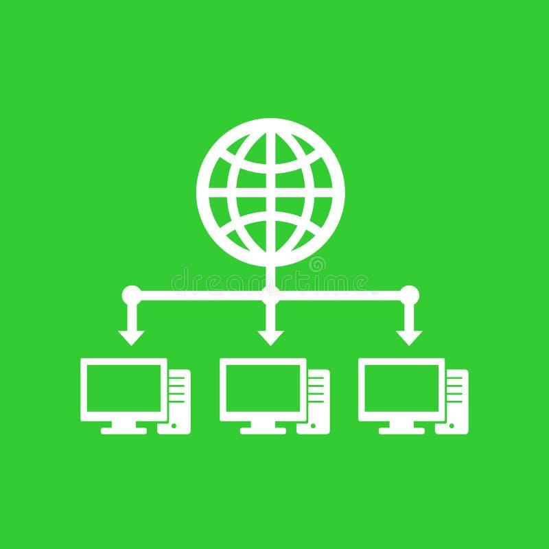 Computernetzwerk- und Internet-Ikone stock abbildung