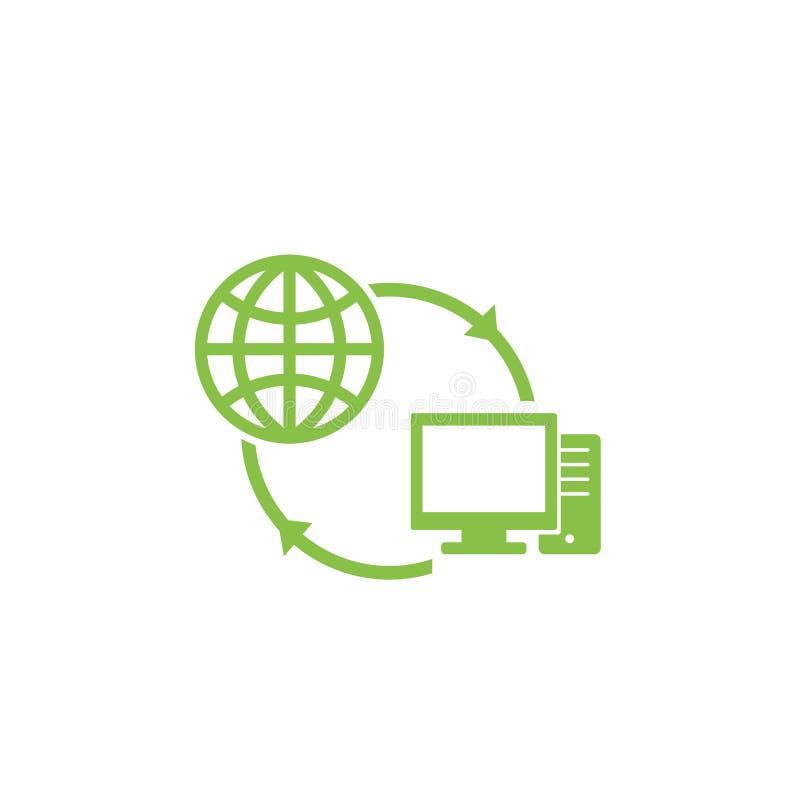 Computernetzwerk- und Internet-Ikone vektor abbildung