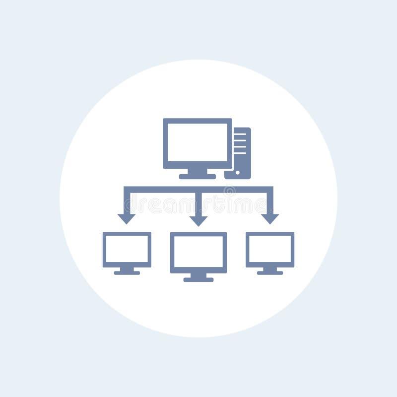 Computernetzwerkikone lizenzfreie abbildung