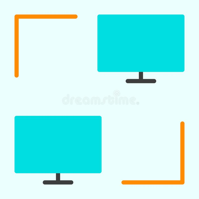 Computernetzwerkikone Piktogramm LAN Vector Simple Minimals 96x96 stock abbildung