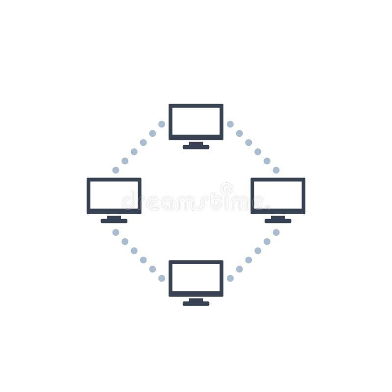 Computernetzwerkvektorikone stock abbildung