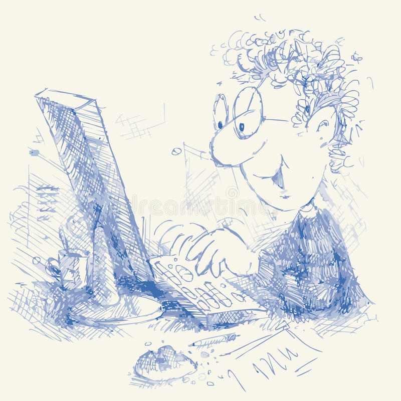 Computernik ilustração royalty free