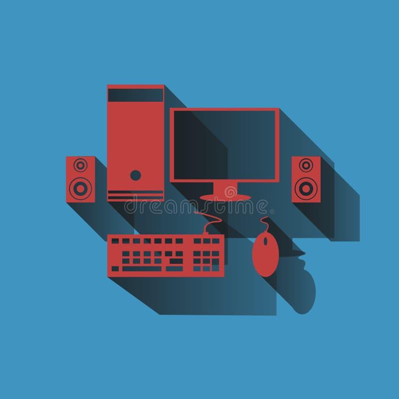 Computerpictogrammen geplaatst ontwerp, illustratievector stock illustratie