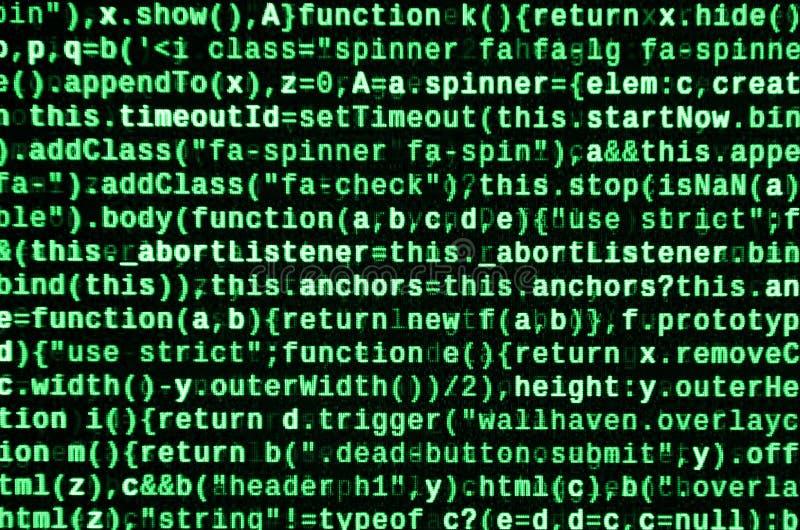 Computerprogrammavoorproef Programmeringscode het typen Informatietechnologie de normen van de websitecodage voor Webontwerp royalty-vrije stock afbeeldingen