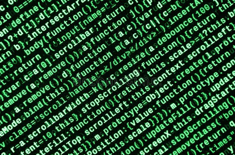 Computerprogrammvorschau Programmiercodeschreiben Informationstechnologie-Websitekodierungsformate für Webdesign lizenzfreie abbildung