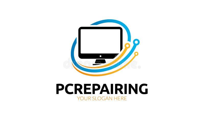 Computerreparatie Logo Template stock illustratie
