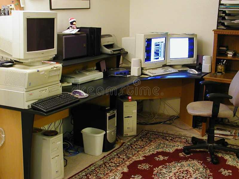 Computers stock photo