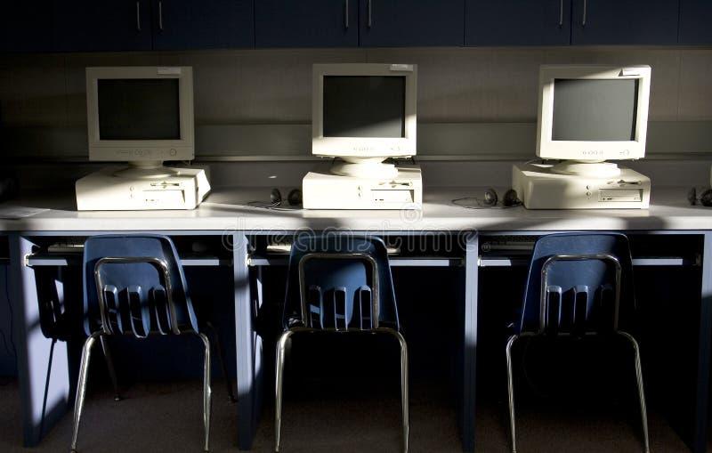 Computers in een rij stock foto's