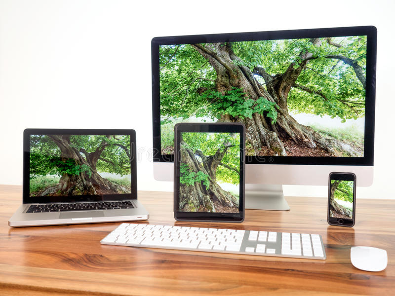 Computers and mobile devices. Networked computers and mobile devices
