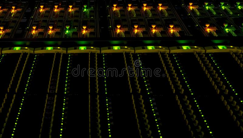 Computers and servers in datacenter. Data storage and cloud services stock photo