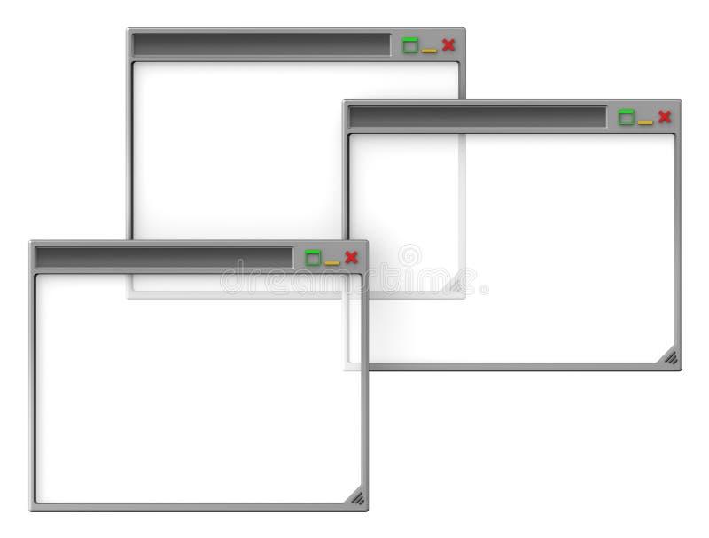 Computerschreibtischfenster lizenzfreie abbildung