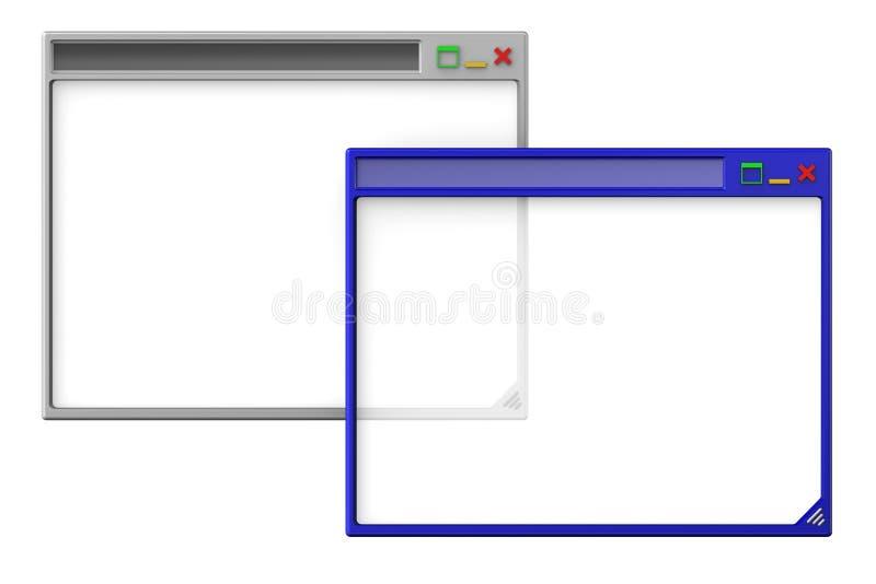 Computerschreibtischfenster stock abbildung