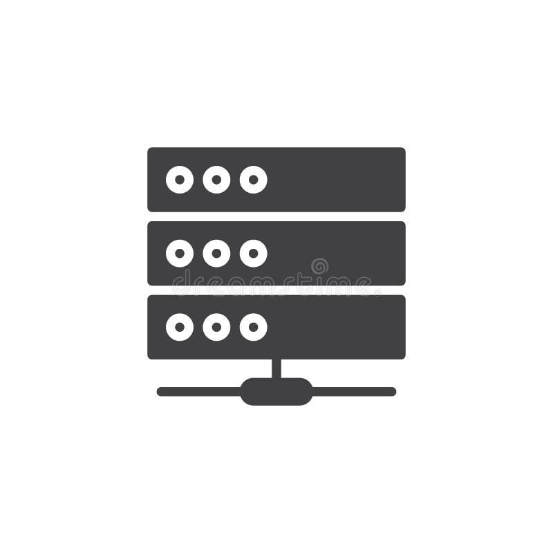Computerserver-Ikonenvektor lizenzfreie abbildung