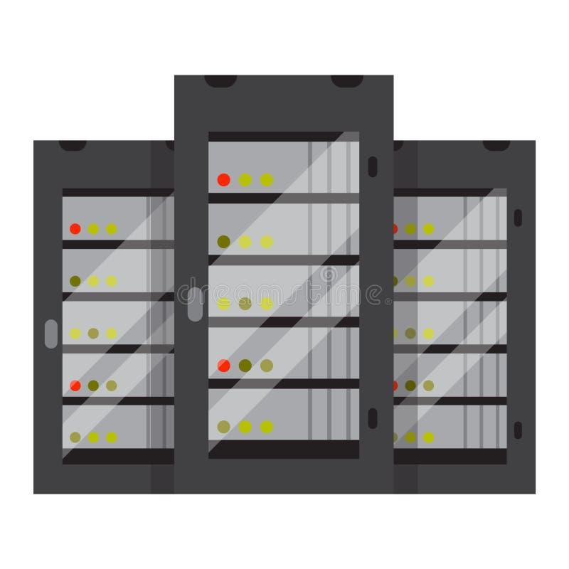 Computerserverikonen-Vektorillustration stock abbildung