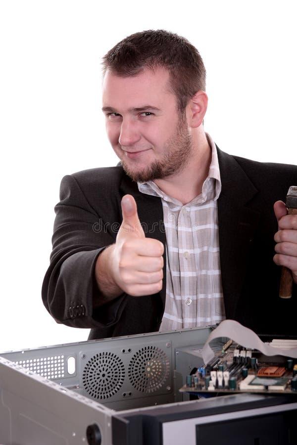 Computerservice lizenzfreies stockfoto
