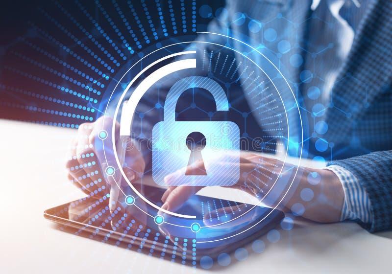 Computersicherheit und Informationstechnologie stockbild