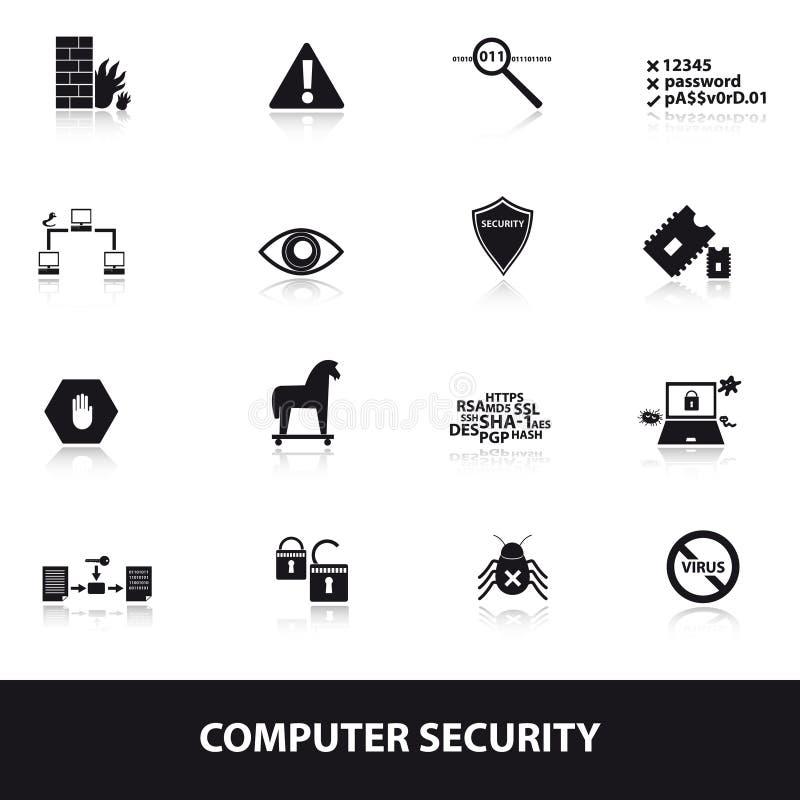 Computersicherheitsikonen eps10 lizenzfreie abbildung