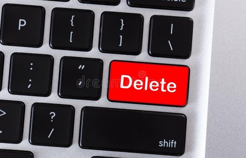 Computertastatur mit Wort L?schung auf Knopf stockbilder