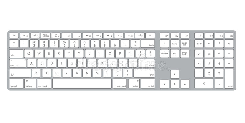 Computertastaturabbildung lizenzfreie abbildung